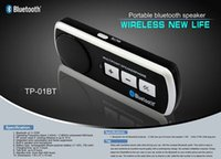 Wholesale Hands free Libres Bluetooth Top Fashion Limited Handsfree Universal Cell Phone Car Kit Speaker for Iphone other Mobiles with