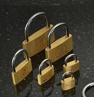 Wholesale Small padlock brass padlock small brass locks open padlock lock cabinet lock padlock independent
