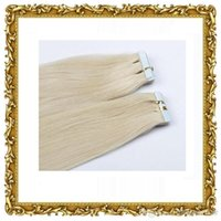 Wholesale 12inch inch Tape In Remy Human Hair Extensions Light Blonde Grams Pu Skin Weft