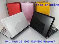 cheap laptops - Cheap Atom D2500 Dual core laptop Windows7 Webcam G G inch mini laptop computer N01C
