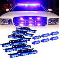 Wholesale 4 x LED flash light control box Car LED warning light strobe light Easy install super bright EMS Police Car Light Firemen Emergency