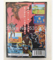 Wholesale Sega games card GOLDEN AXE with Box and Manual for Sega MegaDrive Video Game Console bit MD card