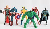 Wholesale Avengers comic book hero marvel light toys Spider Man Hulk PVC cm