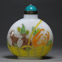Cheap China Masters Designs 2.8 inches Fruit Basket Colored glaze Snuff Bottle H307