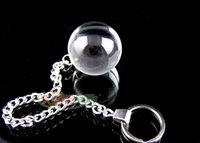 Cheap 4cm glass butt plugs anal stretcher ball adult sex toys for women erotic slave trainer bondage gear