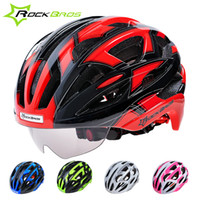 Wholesale ROCKBROS High Quality Cycling Road Bike Helmet Integrally Molded Head Protect Bicycle Helmets Outdoor Capacete Ciclismo