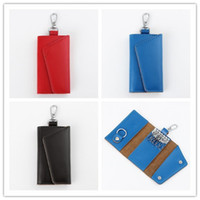 Wholesale 2015 New Fashion Mini Key Wallets Cheap Candy Colors Genuine Leather Bags Holders Whole Sale