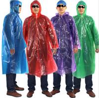 Wholesale Disposable Adult Emergency Waterproof Raincoat Hood Camping Plastic Raincoat Hot Sales Good Quality Brand New