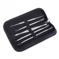 Wholesale 5PCS Stainless Blackhead Comedone Acne Blemish Extractor Remover Cosmetic Tool Stainless Needles Remove Tool Skin Care Beauty