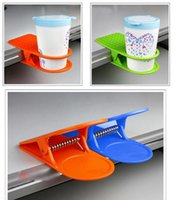 glass mug - 2015 New Hot Table Glass Water Cups Clip Drinklip Cup Holder Glass Holder Mug Office Tumblerful Glass Clamp