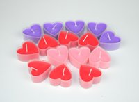 candle box - Creative heart shaped colored scented candles wedding candles boxed Romantic craft scented candles