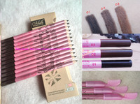 Wholesale Brand Eyebrow Enhancers Pencil Eyeliner dual purpose pen with eyebrow comb soft core good color Brown black light brown color makeup set