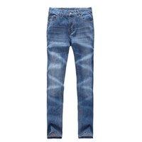 Wholesale HOT retail Cotton Men Brand jeans Men s Jeans Slim Fit Straight Trousers Zipper Style jeans for men