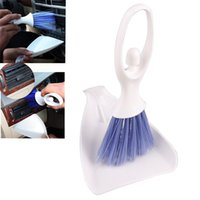 Wholesale New Car Internal Cleaner Tool Keyboard Air Outlet Vent Cleaning Brush Dustpan