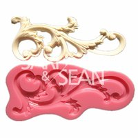 Cheap M0594 Roll leaf European relief lace mold cake border fondant cake molds soap chocolate mould for the kitchen baking