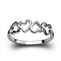 925 sterling silver ring - simple design sterling silver lady ring fashion ring China hearts jewelry for lover