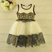 children party dresses - 2015 Summer Hot Sale New Lace Girls Dresses Sleeveless High Qaulity Children Party Dress Girl Summer Princess Dress