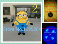 minion costume - high quality Despicable me minion mascot costume for adults Minion mascot costume EPE material Install LED fans keeping cool and breathabl