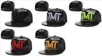 Wholesale Full leather TMT The Money Team Snapback caps different colors classic mens sports hats cap shipping in box Freeshipping