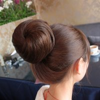 Wholesale 2015 New arrival Hot sale best quality Straight Synthetic Bun Roller Ponytail Drawstring Hairpieces Hair Extensi