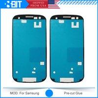 Wholesale 100pc Pre Cut Tape M Adhensive Sticker Glue For Galaxy S2 S3 I9300 S4 I9500 Note Note Note S3 Mini S4 Mini S5 Free DHL Shiping