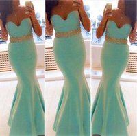 cheap prom dresses - 2015 Mint Mermaid Prom Dresses Sexy Sweetheart Neckline Rhinestone Ruffle Cheap Long Formal Dresses Party Evening Pageant Gowns Plus Size