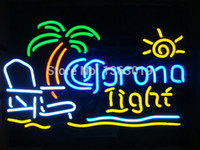 beach signs - Revolutionary Neon Super Bright Corona Light Beach Chair Palm Tree Neon Beer Sign quot x15 quot Available multiple Sizes