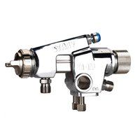 automatic paint spray gun - Valianto WA100 Pressure Feed HVLP Automatic cordless driver drill painted Spray Gun Silver Nozzle Size mm
