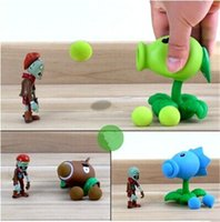 Wholesale PVZ Plants vs Zombies Peashooter PVC Action Figure Model Toy Christmas Gifts Style A5