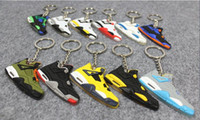 promotion fan - Fan Souvenirs Basketball Shoes Keychain Sneakers Key Chain Fashion Key Rings Jump Man generation PVC Keychains Color to choose