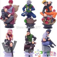 Wholesale Anime Naruto Uzumaki Naruto Sasuke Gaara Kakashi Chess PVC Action Figure Collection Toy set