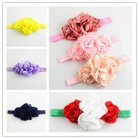 alternative flowers - Fashion high quality Girl Hair band combined roast flower baby headband hair accessories colors alternative HA0477
