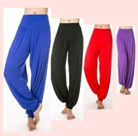 Wholesale New Multicolor Yoga Pants Square Dance Clothes Sports Fitness Modal Bloomers Women High Harem Yoga Pants