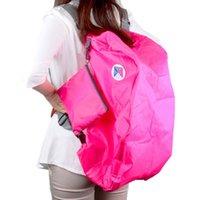 Wholesale Multi function Nylon Foldable Duffle Bag Outdoor Bag Women Men Travel Bag Backpack Cross Bag Blue