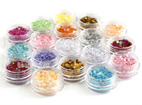 acrylic flowers for nails - 18 color Star Heart Flower Glitter Flakes Nail Art Decorations For Acrylic D UV Gel DHL