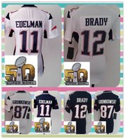 american super bowls - New Product Super Bowl th Patch Women s New England American Football shirt EDELMAN Brady Gronkowski Jerseys White Blue Women Jerseys
