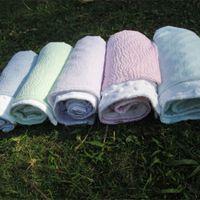 Wholesale Blanks Updated Seersucker Bayby Blanket with Minky Lovie Gift for Baby Via FedEx DOM106166