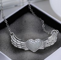 Wholesale 2016 sale Alloy angel wings of love pendant Halloween jewelry Necklaces Pendants street fashion Chirstmas Thanksgiving Day Jewelry