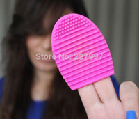 Wholesale 100pcs Brushegg Silicone Brush Cleaning Egg Brush Cleaning egg Cosmetic Brush Cleanser Mack up Makeup Brush Cleaner Clean tools