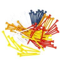 Wholesale 100Pcs mm Mixed Color Wood Golf Tees Golf Equipment Accessories