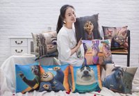 Wholesale Zootopia Throw Pillow Case One Side Inches Square Zootopia Hold Pillow soft Plush Toy Judy Hopps Nick Wilde PP Cotton Pillow styles E