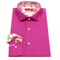 bespoke tailored shirts - rose color men s bespoke tailor made Dress Shirt contrast collar and cuff