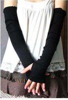 arm modeling - Style arm modeling wrist Fingerless Gloves wrist Black Half Finger Gloves