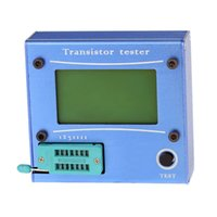 Wholesale High Quality Digital LCD Display Transistor Tester Diode Thyristor Capacitance ESR LCR Meter Tester With Blue Aluminum Case order lt no trac
