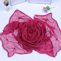 Wholesale 2015 Newest Fashion Red Shawl Yarn Voile Scarves Sarong of Lace Infinity Autumn and Winter Warm Scarfs Jewelry for Women