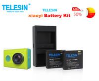 Wholesale Hot Sale TELESIN Dual Charger Battery Pack V mAh Li ion Batteries for Xiaomi Yi Xiaoyi Action Sports Camera