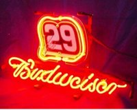 autograph signings - Budweiser Autographed Nascar Race Number Neon Sign Light Racing Game Sign Bar Disco KTV Motel Sign Display Advertise quot X14 quot