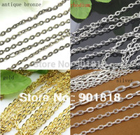 Wholesale Meters mm antique bronze necklace chains Fitting DIY necklace bracelets F712