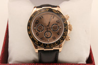 automatic hand - luxury Watch Mens rose golden Edition Black Dial Perpetual Automatic leather belt Sport Men s Watches