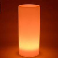 4pcs / lot merveilleux Tower LED pilier Lampadaire petit cylindre extérieur lumières rondes de l'éclairage du paysage extérieur de la colonne